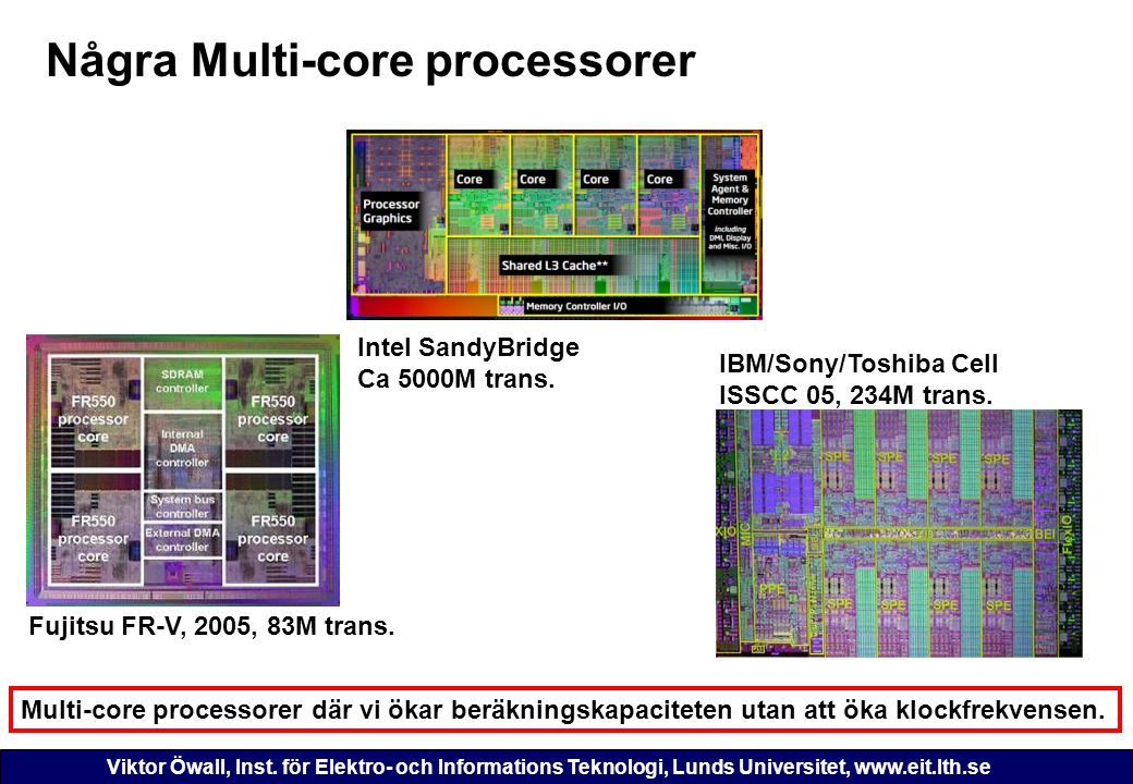 Några Multi-core processorer