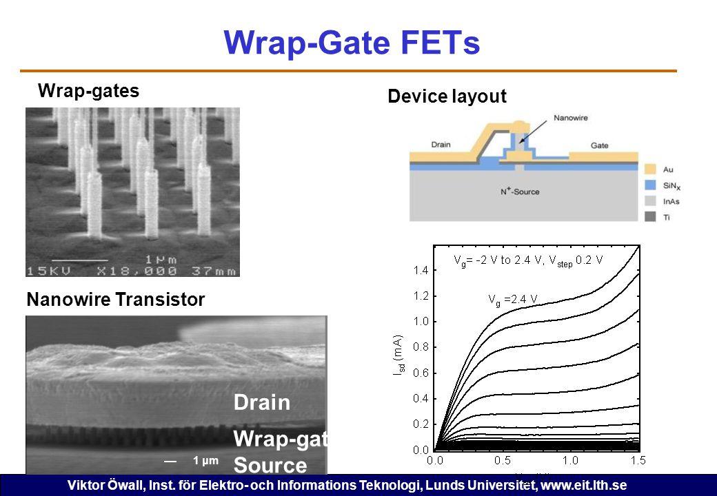 Wrap-Gate FETs Drain Wrap-gate Source Wrap-gates Device layout