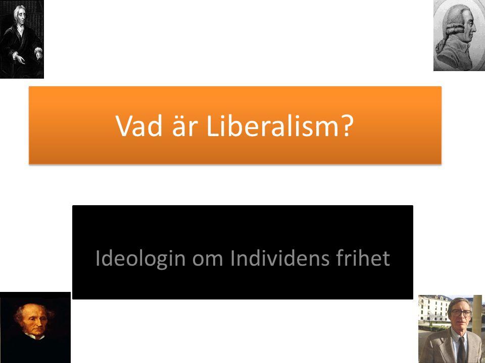 Ideologin om Individens frihet
