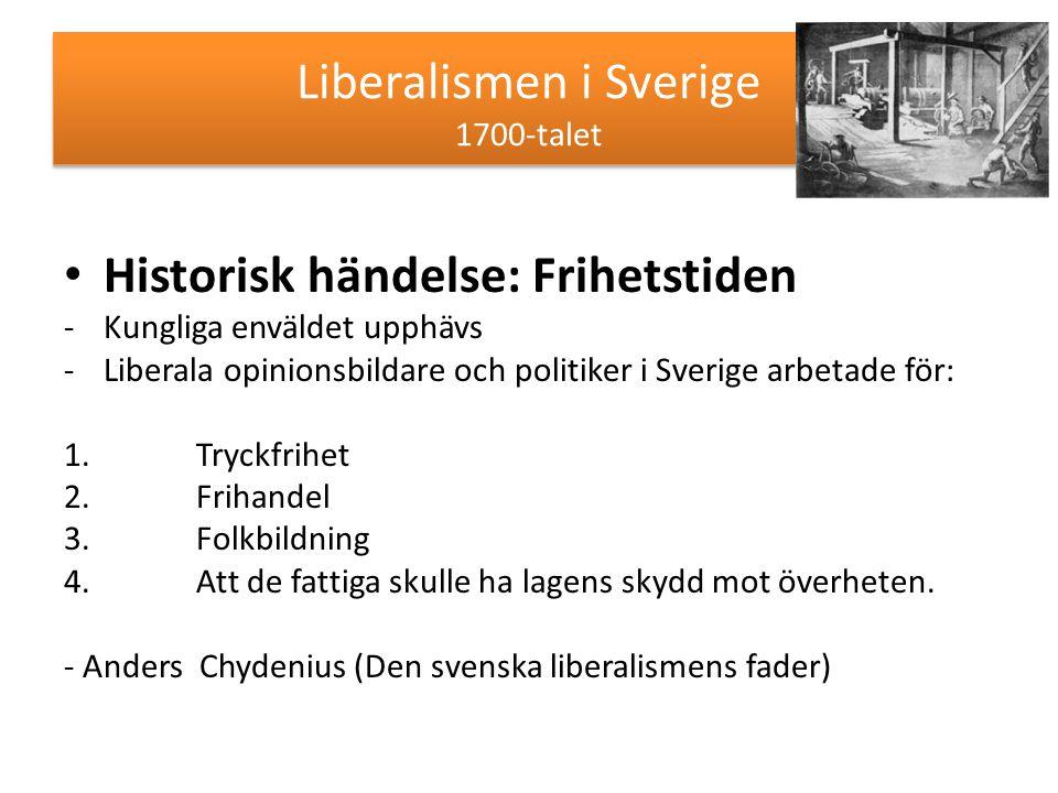 Liberalismen i Sverige 1700-talet