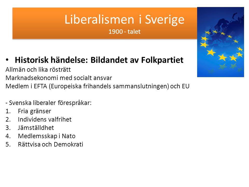 Liberalismen i Sverige 1900 - talet