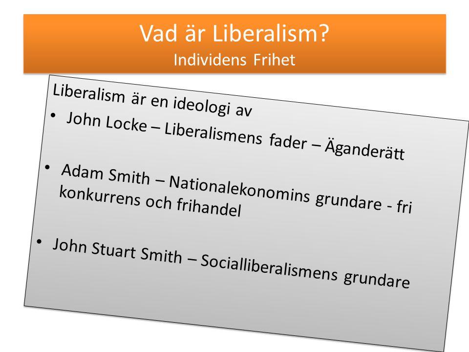 Vad är Liberalism Individens Frihet
