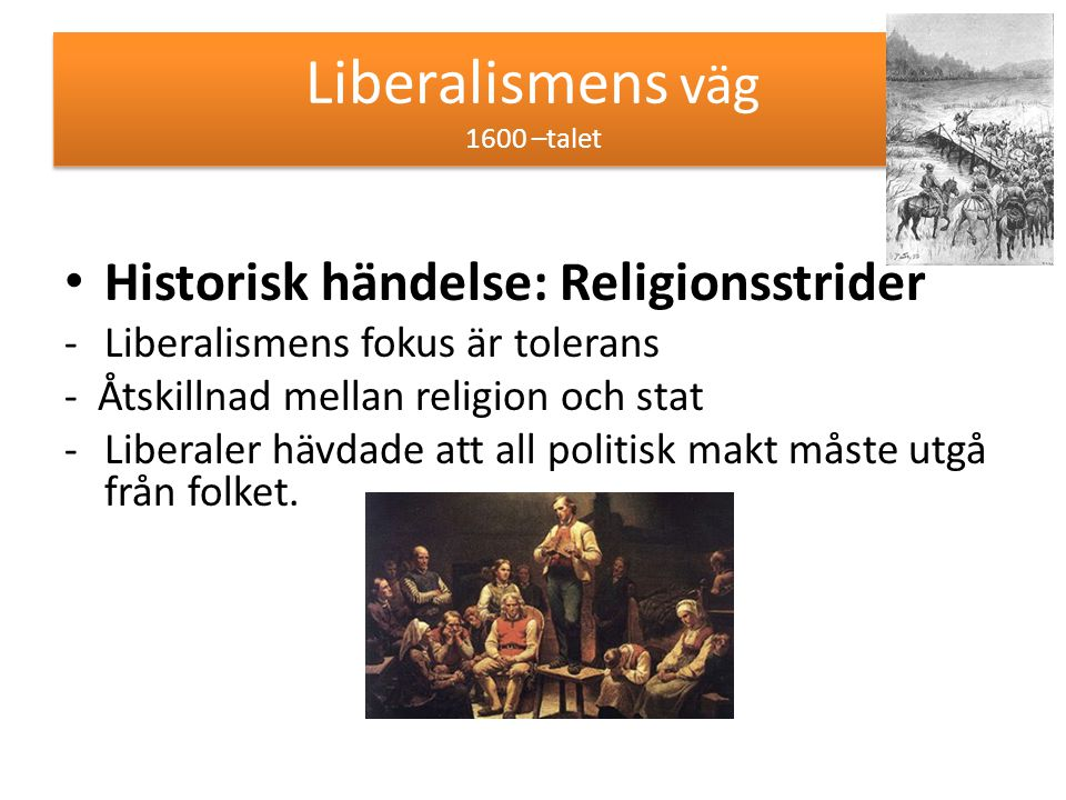 Liberalismens väg 1600 –talet