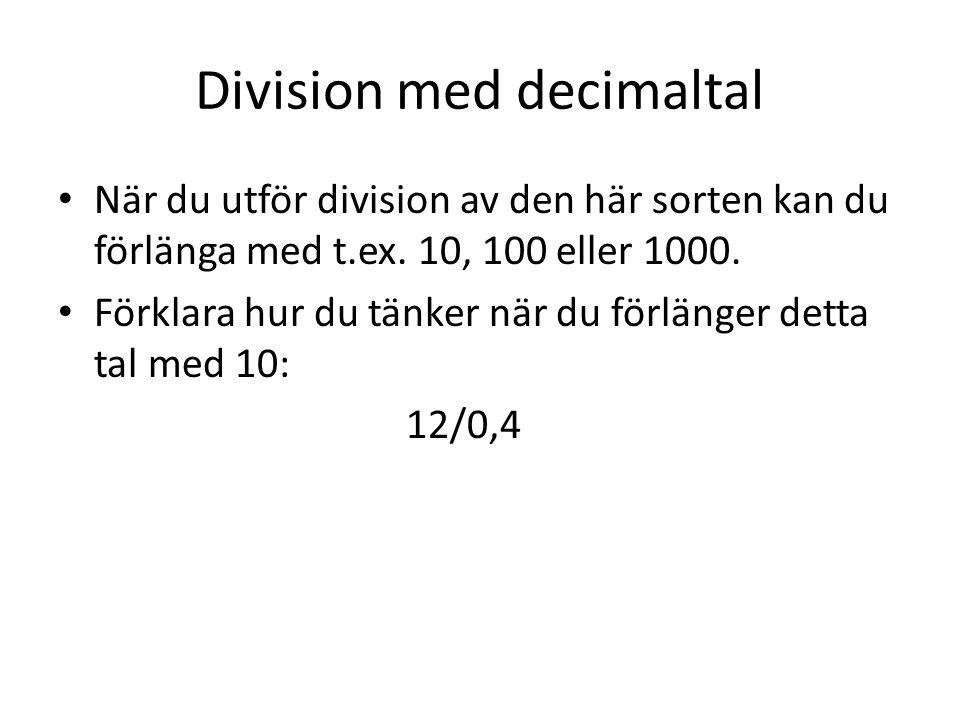 Division med decimaltal
