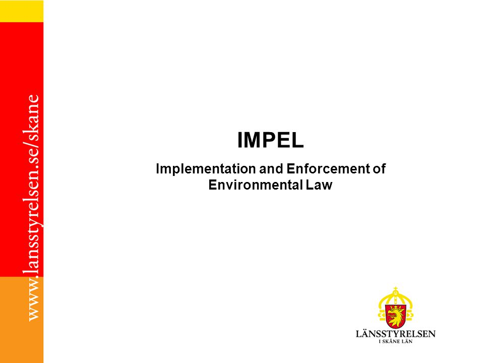 Implementation and Enforcement of Environmental Law