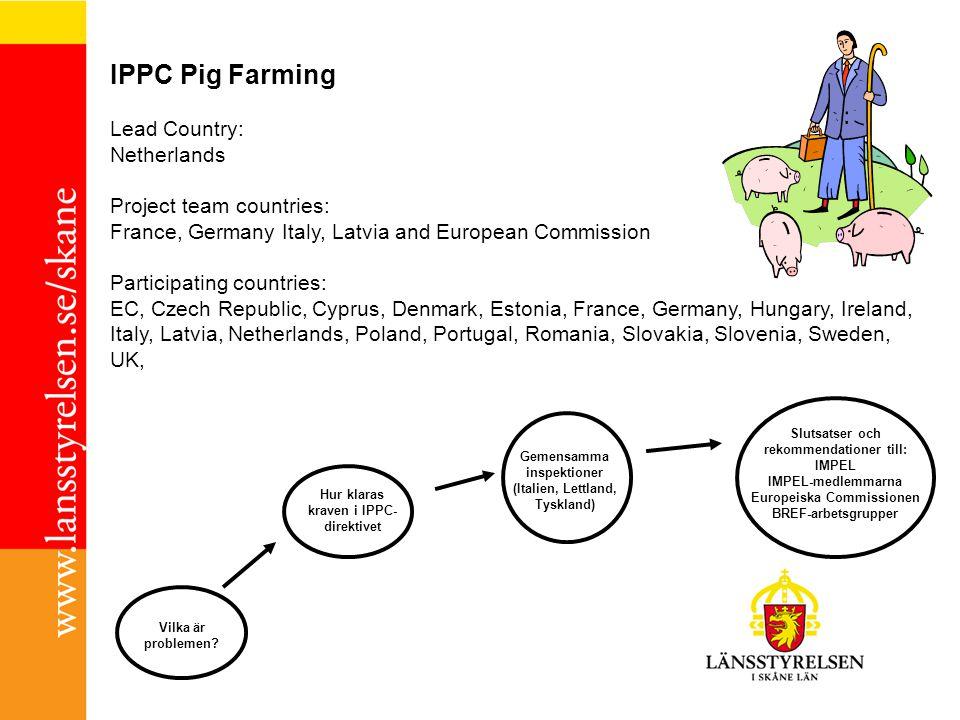 Slutsatser och rekommendationer till: Europeiska Commissionen