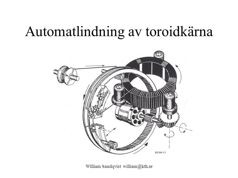 Automatlindning av toroidkärna