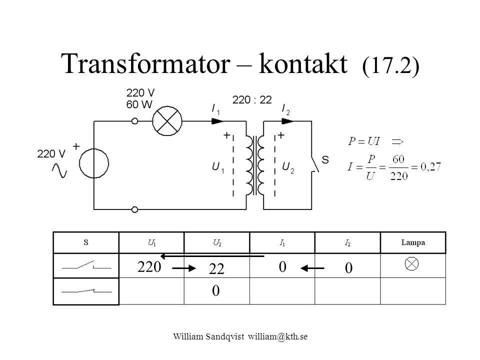 Transformator – kontakt (17.2)
