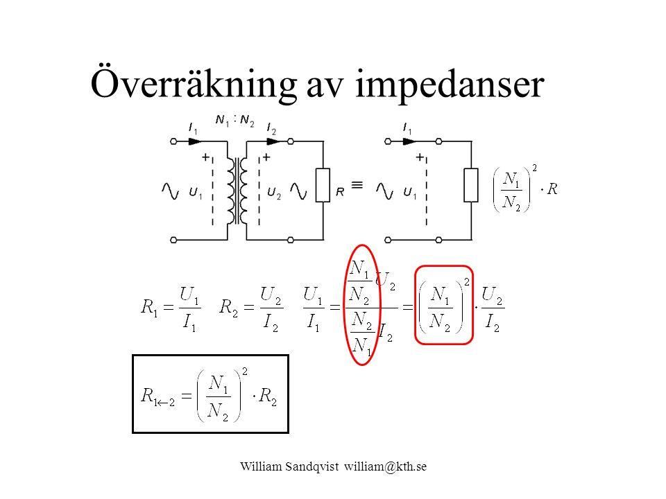 Överräkning av impedanser