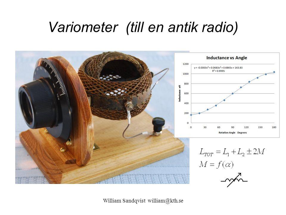 Variometer (till en antik radio)