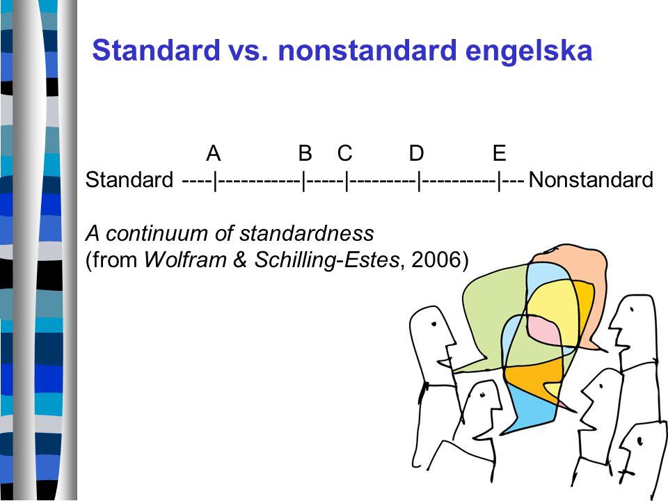 Standard vs. nonstandard engelska