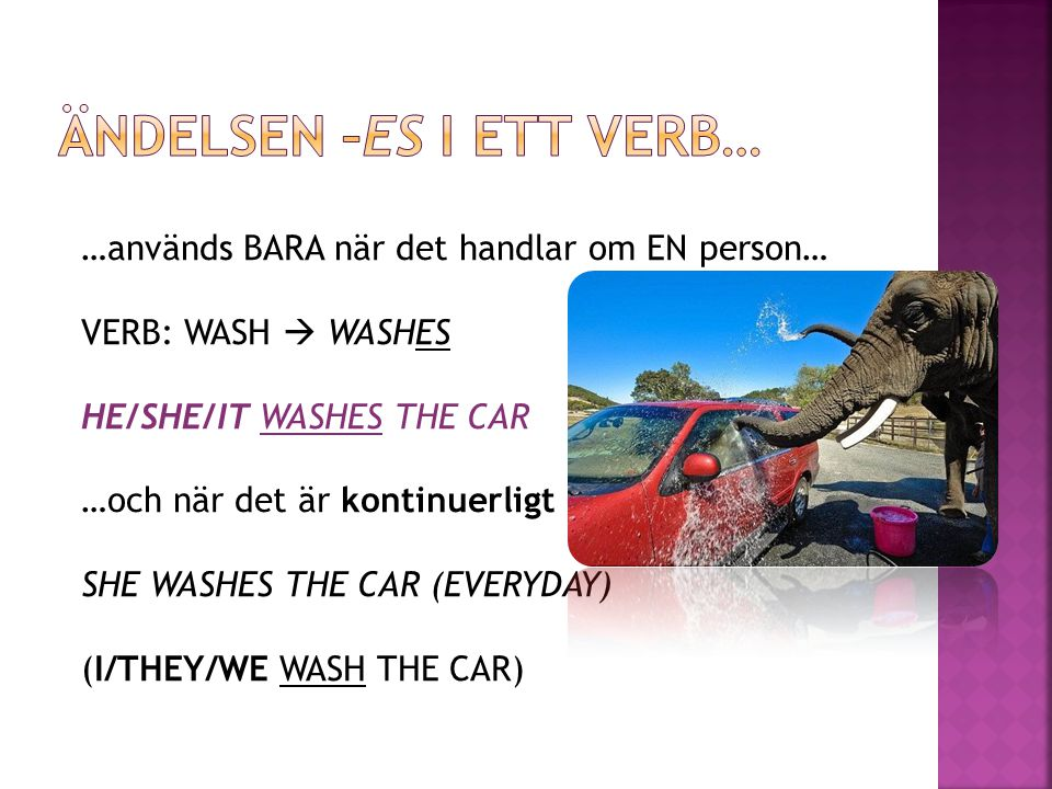 Ändelsen –es i ett verb…