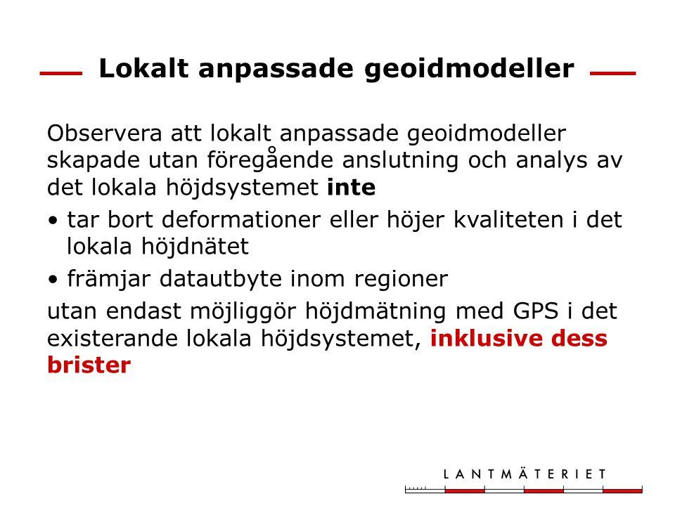 Lokalt anpassade geoidmodeller