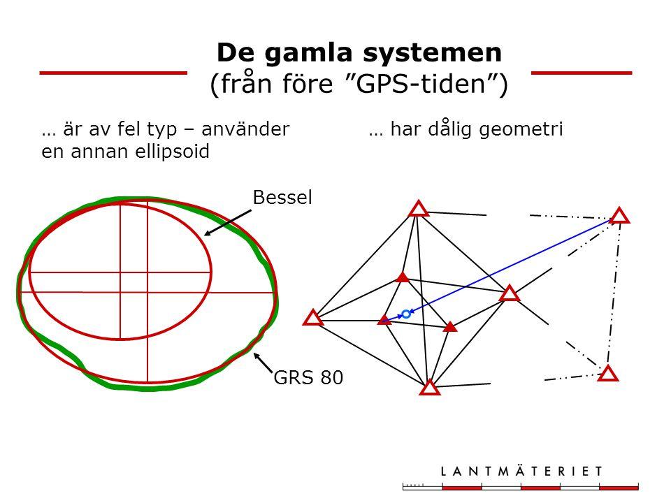 De gamla systemen (från före GPS-tiden )