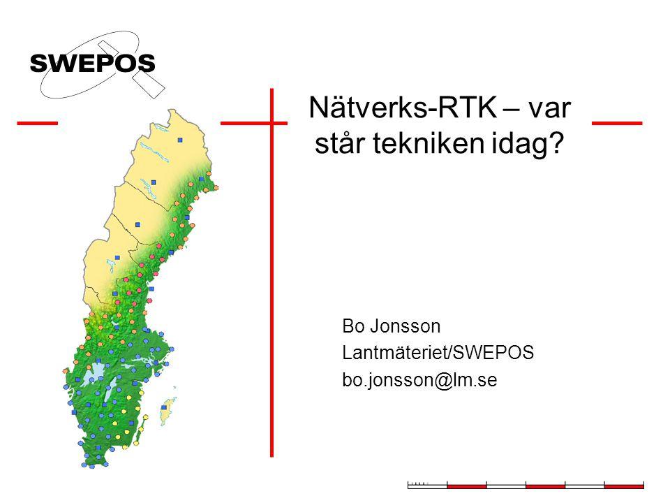 Nätverks-RTK – var står tekniken idag