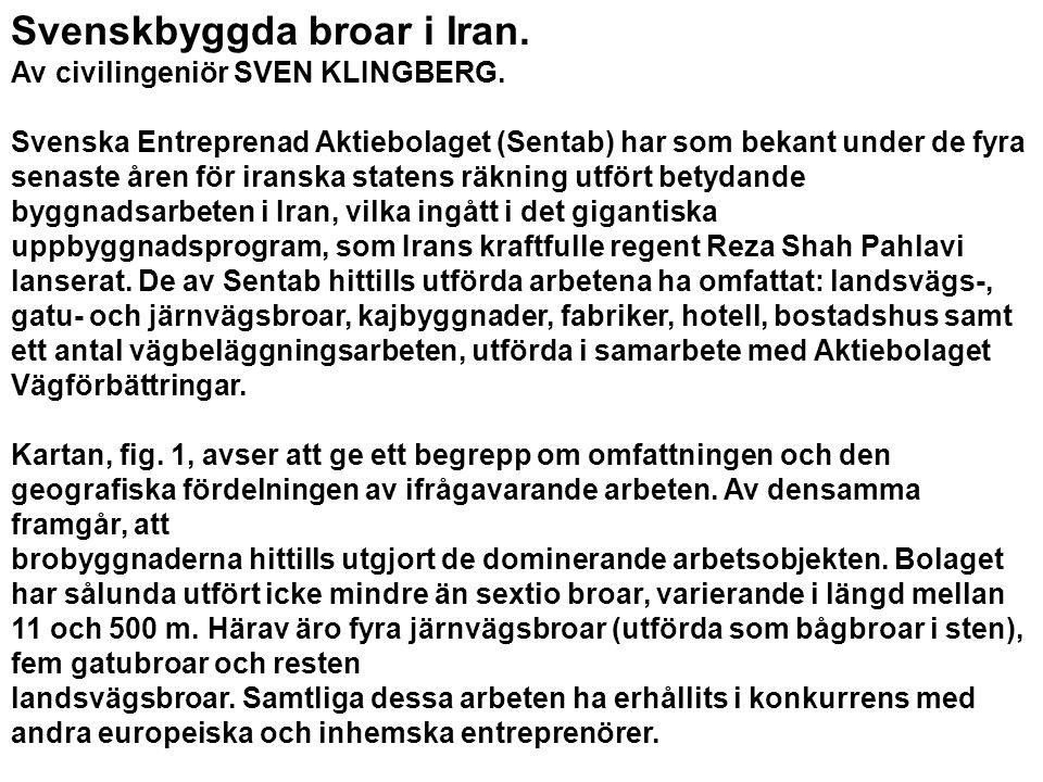Svenskbyggda broar i Iran.