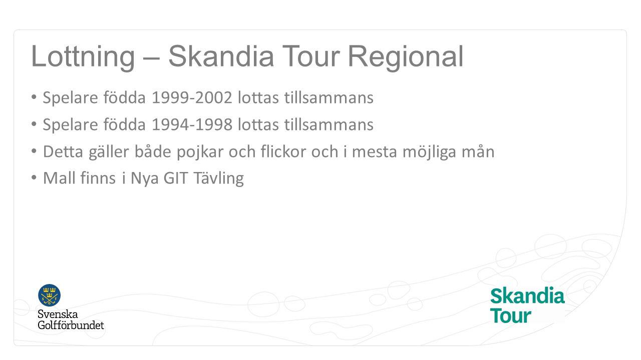 Lottning – Skandia Tour Regional
