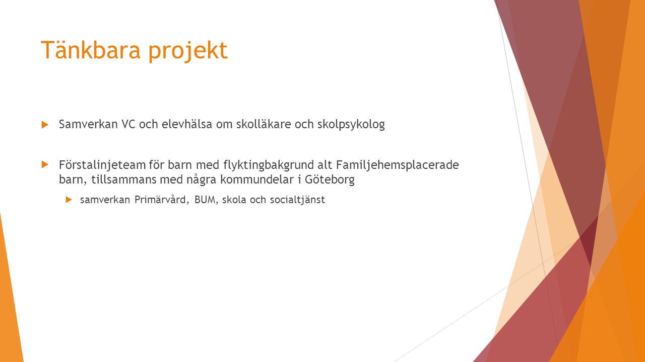 Tänkbara projekt Samverkan VC och elevhälsa om skolläkare och skolpsykolog.