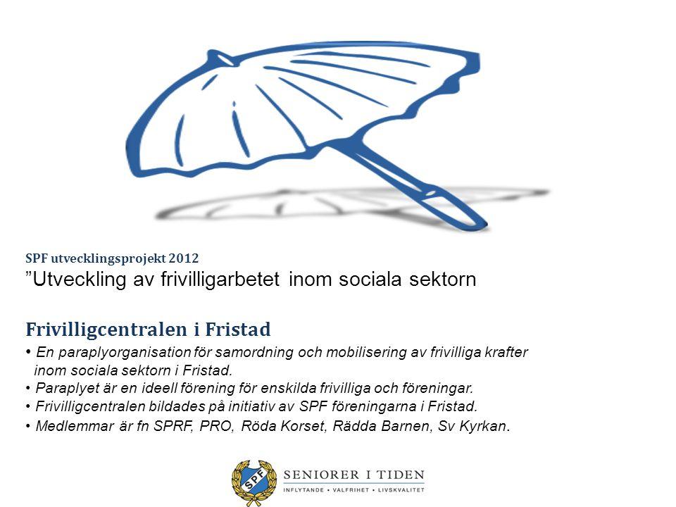 Utveckling av frivilligarbetet inom sociala sektorn