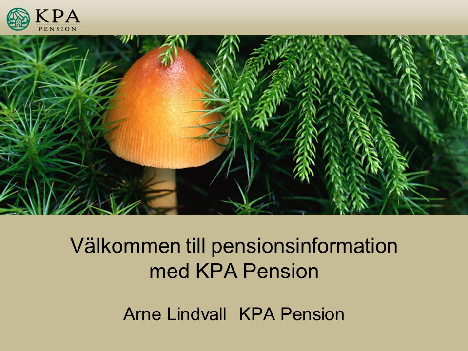 Välkommen till pensionsinformation med KPA Pension