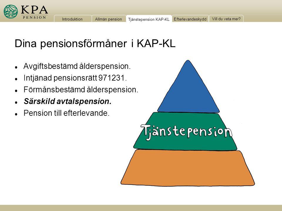 Tjänstepension KAP-KL