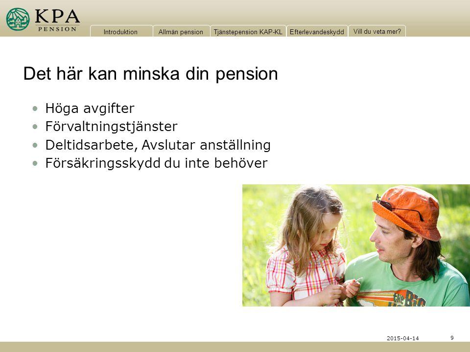Det här kan minska din pension