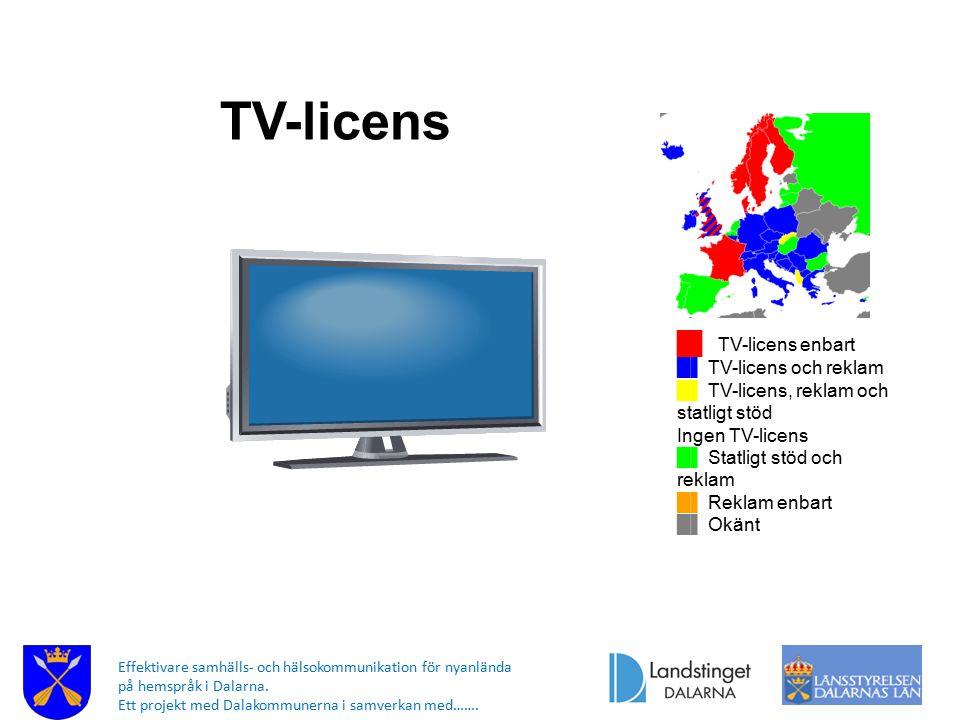 TV-licens █▌ TV-licens enbart █▌ TV-licens och reklam