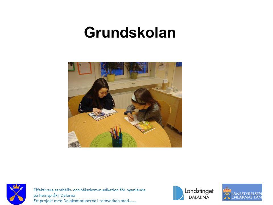 Grundskolan Effektivare samhälls- och hälsokommunikation för nyanlända