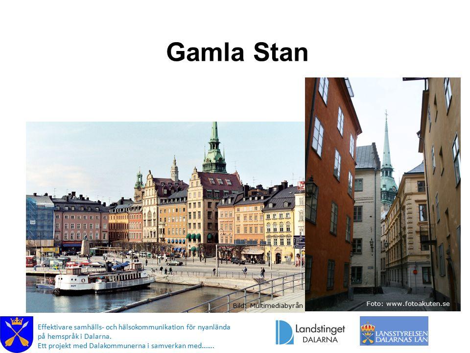 Gamla Stan Foto: www.fotoakuten.se. Bild: Multimediabyrån.