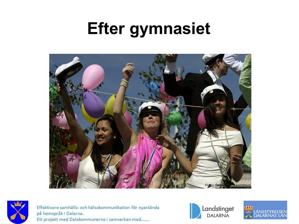 Efter gymnasiet Foto: Östersunds kommun.