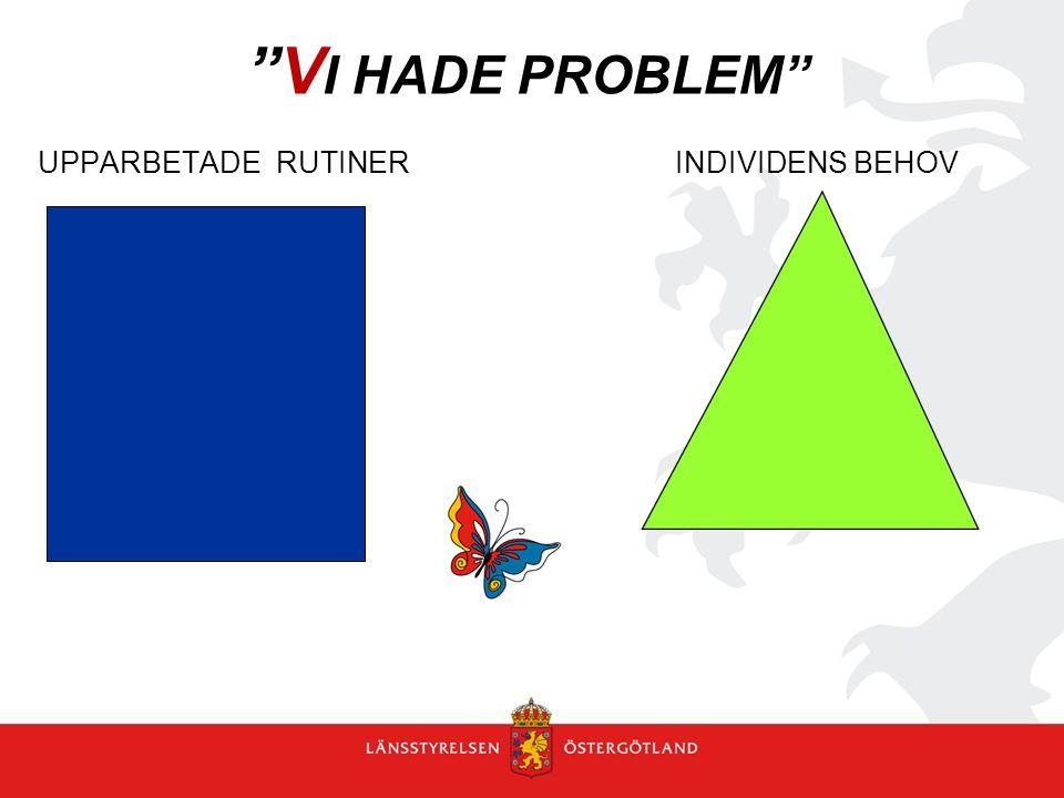 VI HADE PROBLEM UPPARBETADE RUTINER INDIVIDENS BEHOV