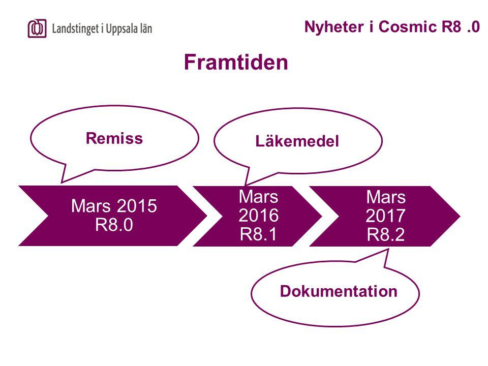 Framtiden Nyheter i Cosmic R8 .0 Remiss Läkemedel Dokumentation