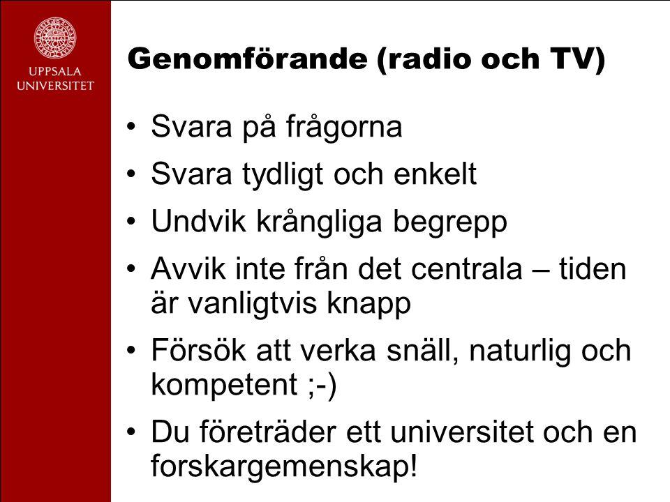 Genomförande (radio och TV)