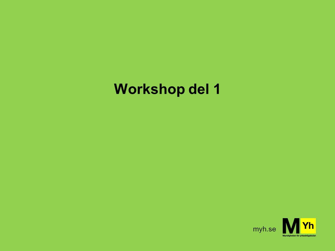 Workshop del 1