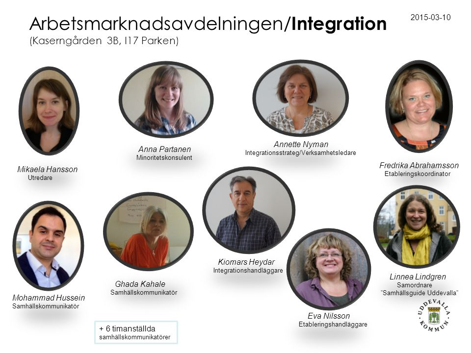 Arbetsmarknadsavdelningen/Integration (Kaserngården 3B, I17 Parken)