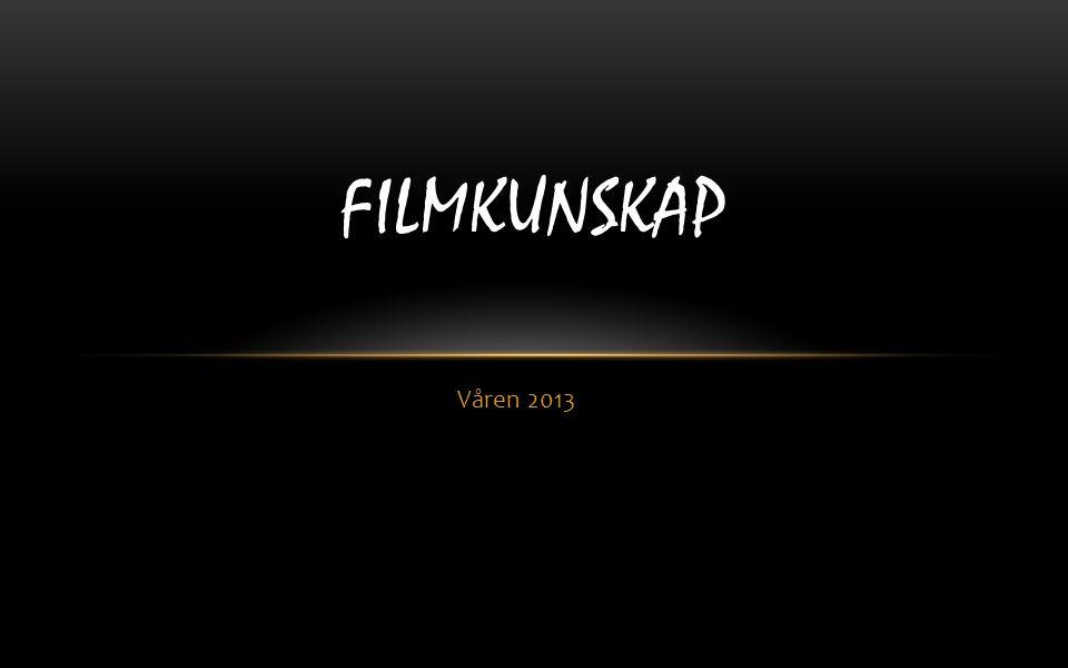 Filmkunskap Våren 2013