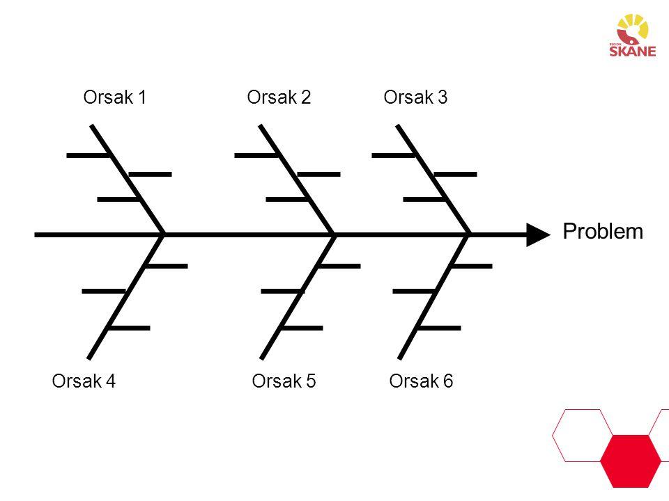 Orsak 1 Orsak 2 Orsak 3 Problem Orsak 4 Orsak 5 Orsak 6