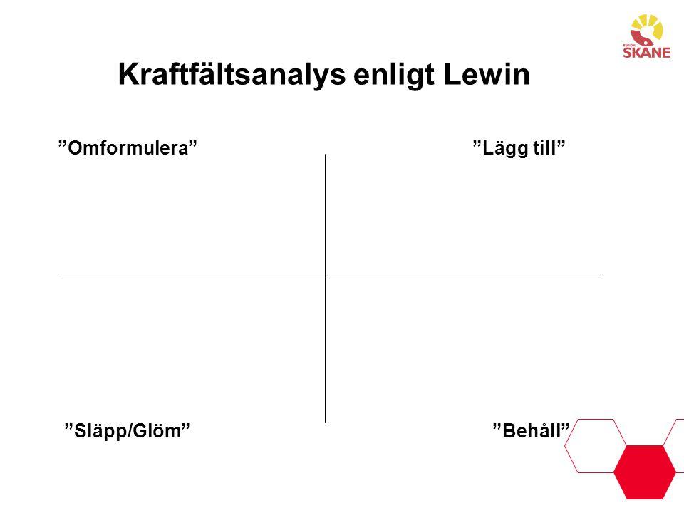 Kraftfältsanalys enligt Lewin