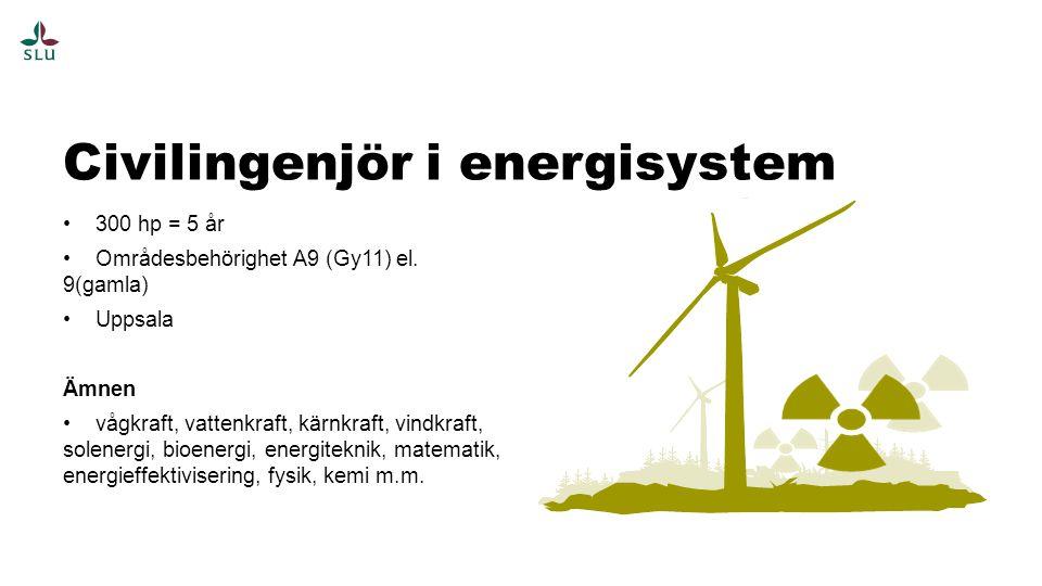 Civilingenjör i energisystem