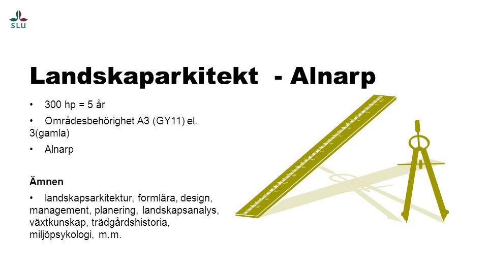 Landskaparkitekt - Alnarp