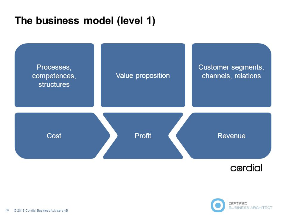 The business model (level 1)