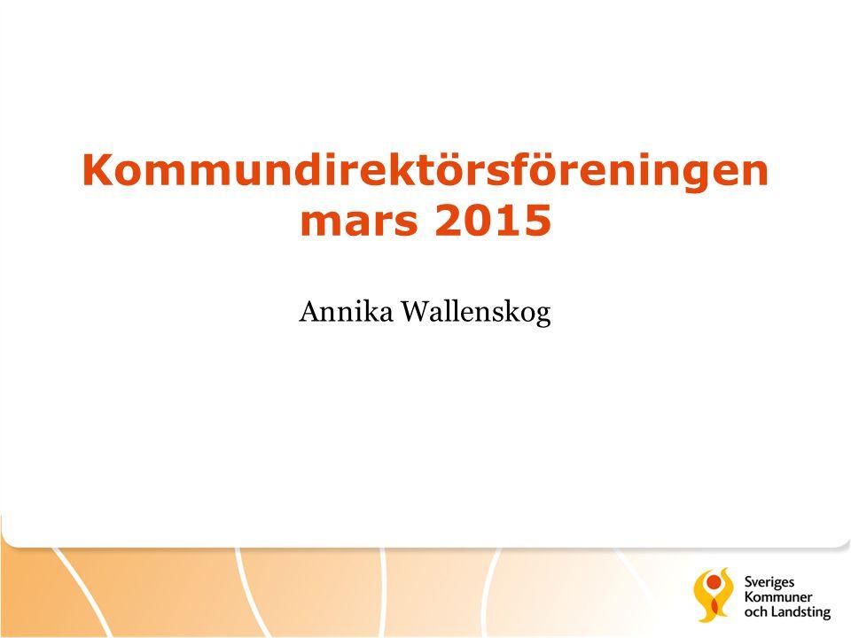 Kommundirektörsföreningen mars 2015