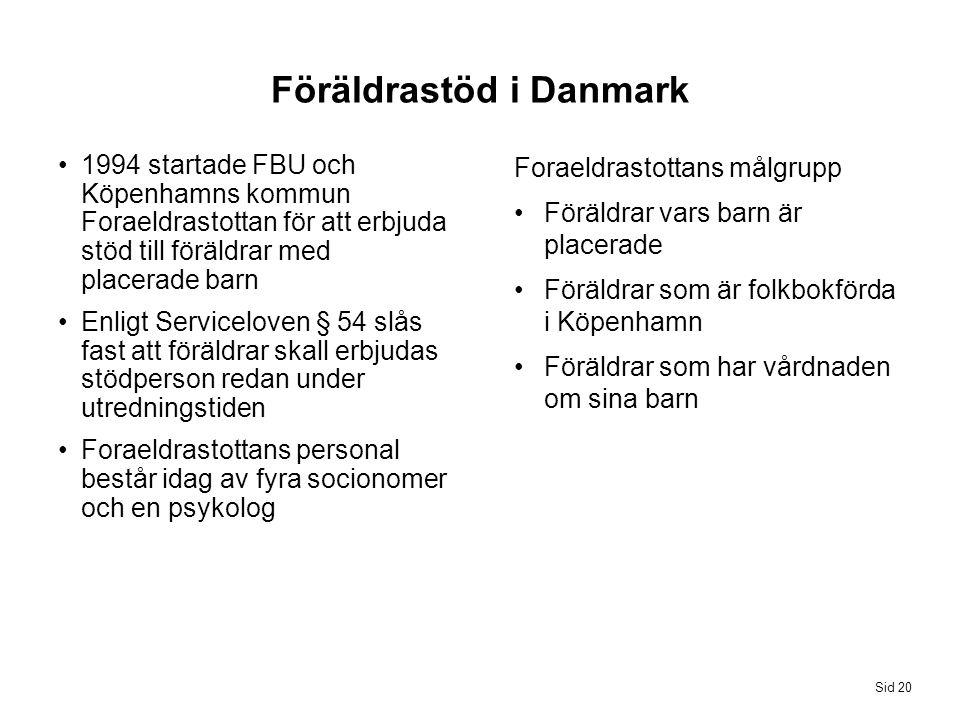Föräldrastöd i Danmark