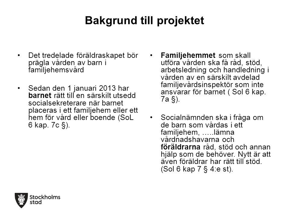 Bakgrund till projektet