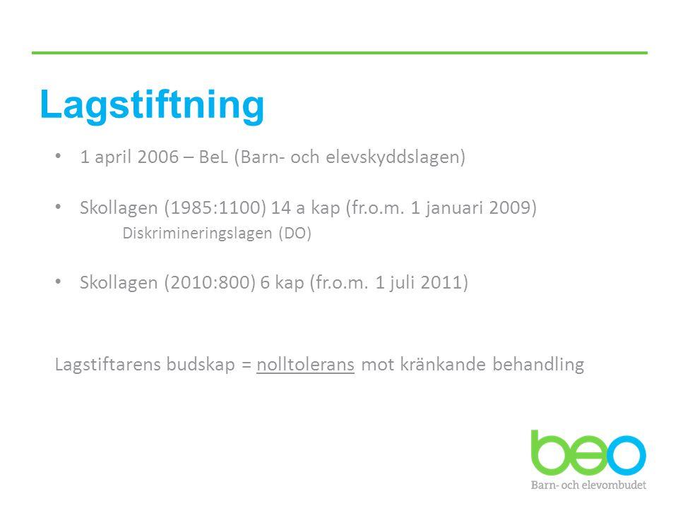 Lagstiftning 1 april 2006 – BeL (Barn- och elevskyddslagen)