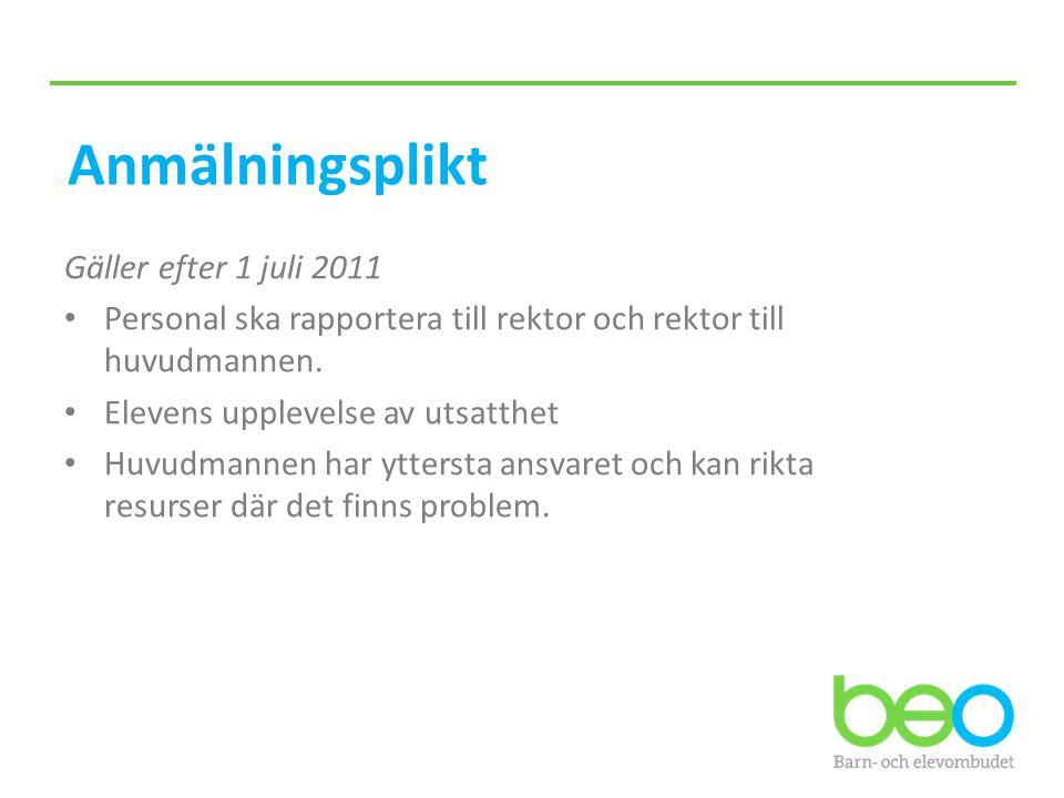 Anmälningsplikt Gäller efter 1 juli 2011