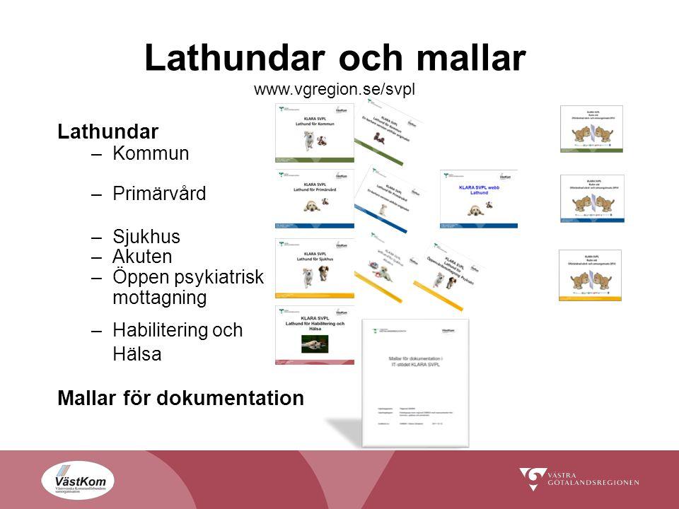 Lathundar och mallar www.vgregion.se/svpl