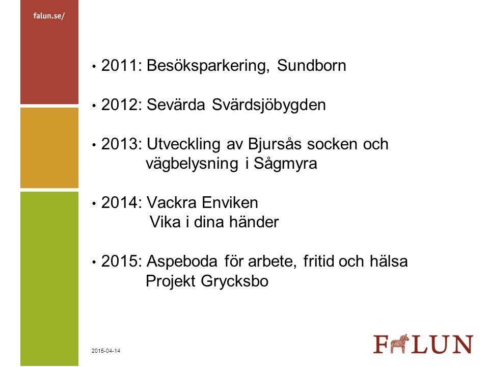 2011: Besöksparkering, Sundborn