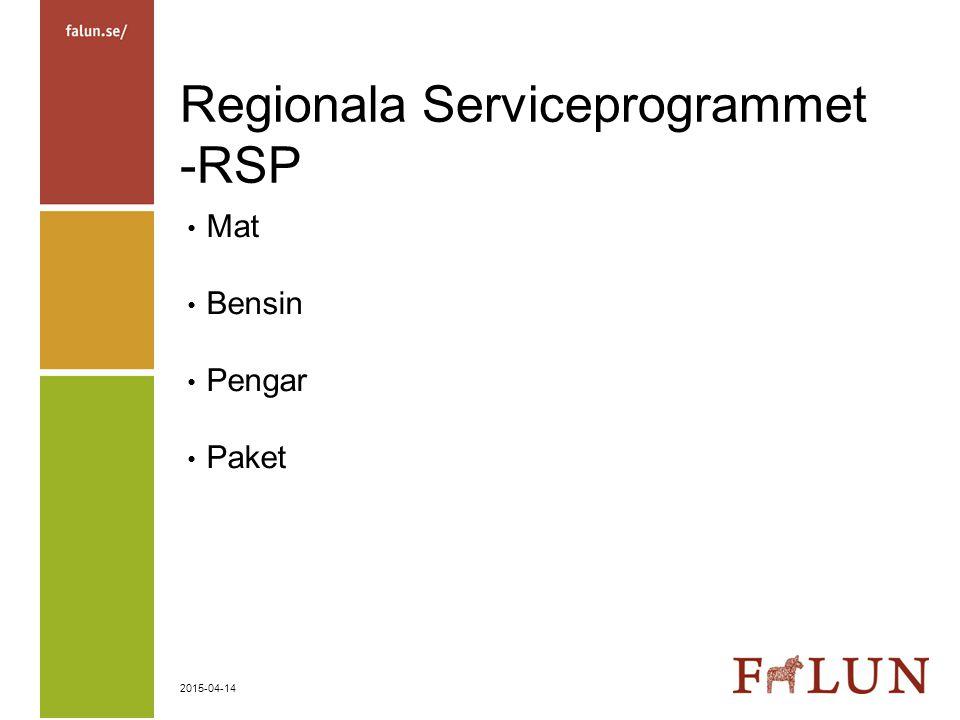 Regionala Serviceprogrammet -RSP