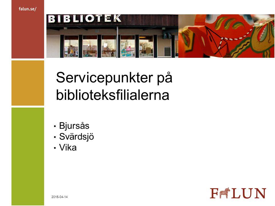 Servicepunkter på biblioteksfilialerna